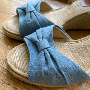 Lucky Brand Espadrille Wedges with Denim Twist